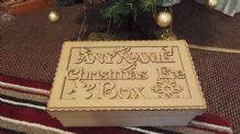 SUPER SIZE 50X30X20 CM Personalised Christmas Eve box, xmas eve box flat packed